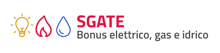 SGATE bonus elettrico, gas e idrico