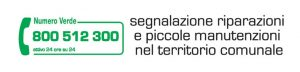 Numero verde per segnalazione riparazioni e piccole manutenzioni nel territorio comunale
